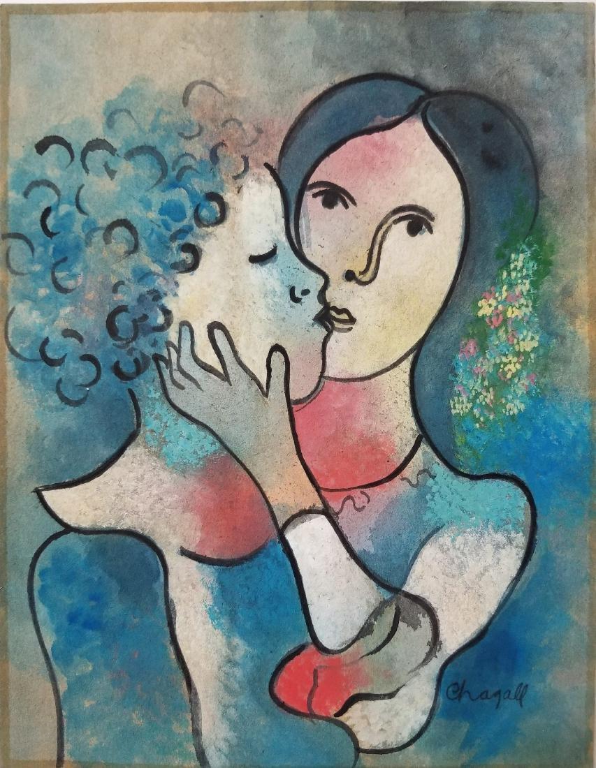 (Att.)Marc Chagall - Gouache on paper
