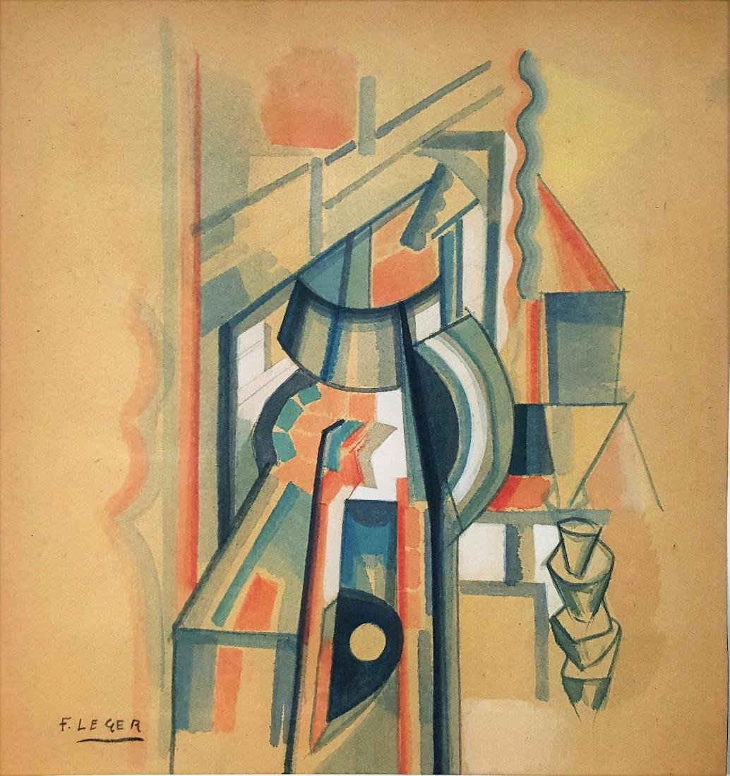 Fernand Leger gouache on paper