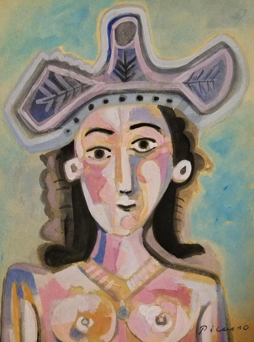 Gouache on Paper - Signed Picasso