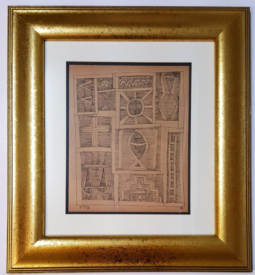Joaquin Torres Garcia Ink on paper