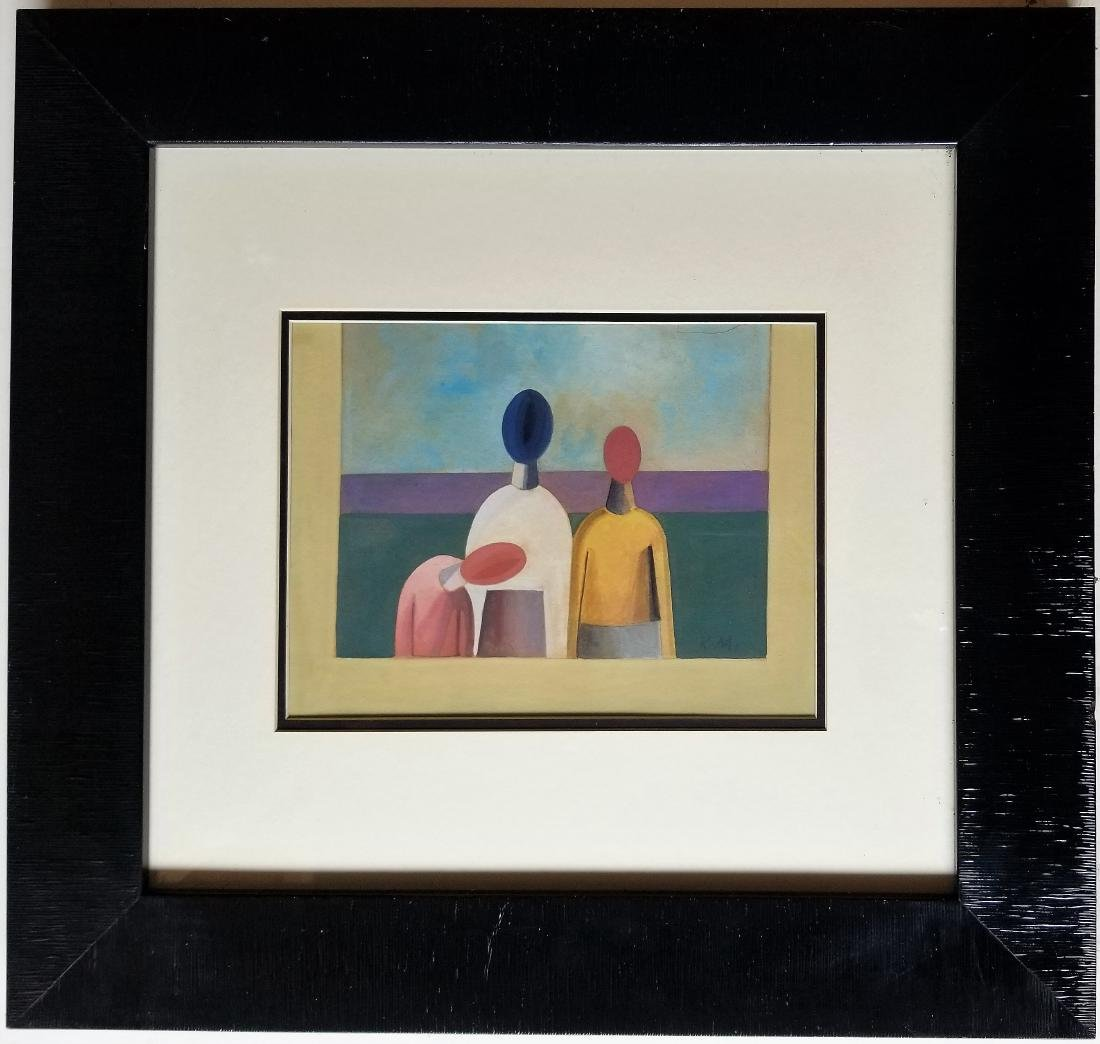 In the style of Kasimir Sevrinovitch MALEVICH gouache