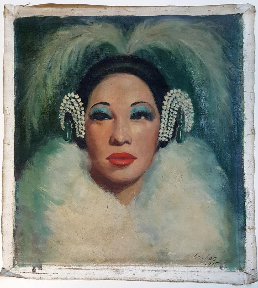 Oil on canvas signed  Leo Lee 1975 painting