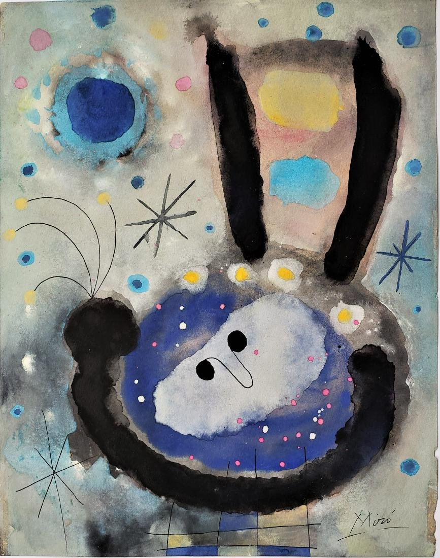 Miro Gouache on paper