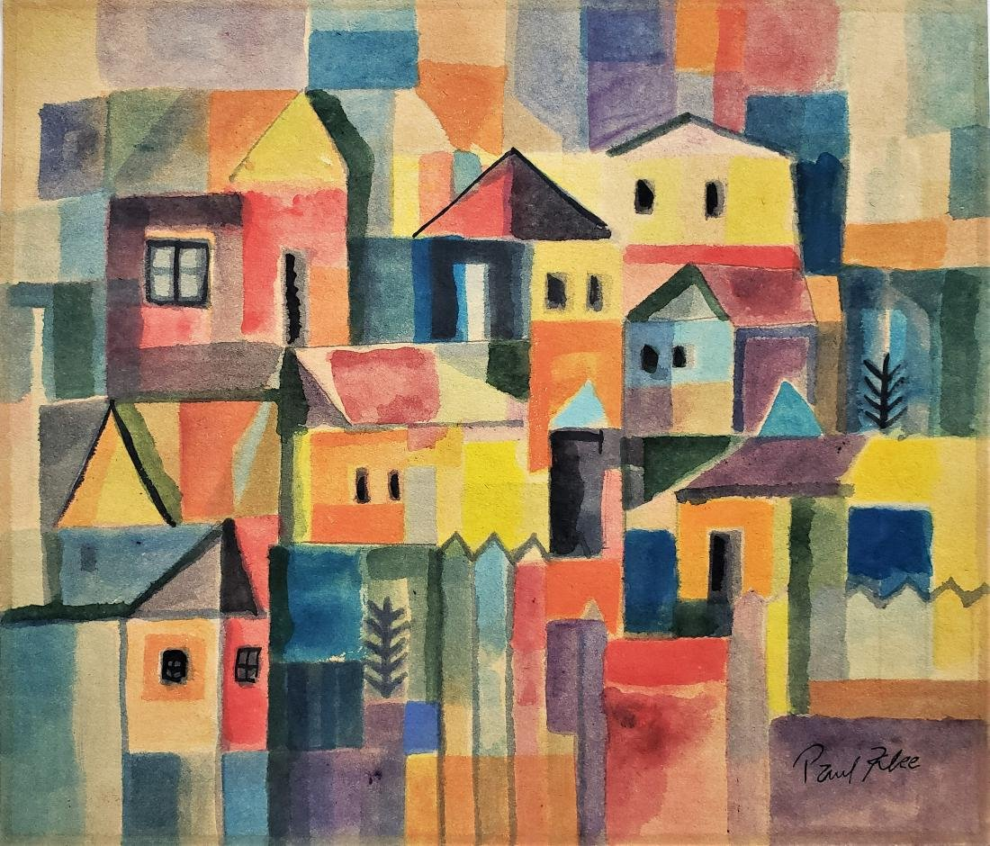 Gouache on paper signed Paul Klee