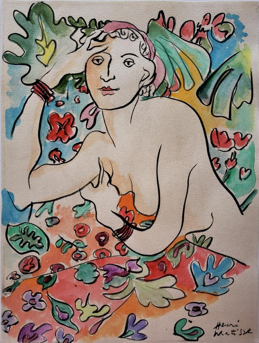 H. Matisse watercolor on paper.