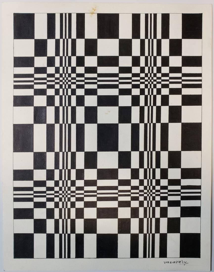 Ink on paper signed Vasarely
