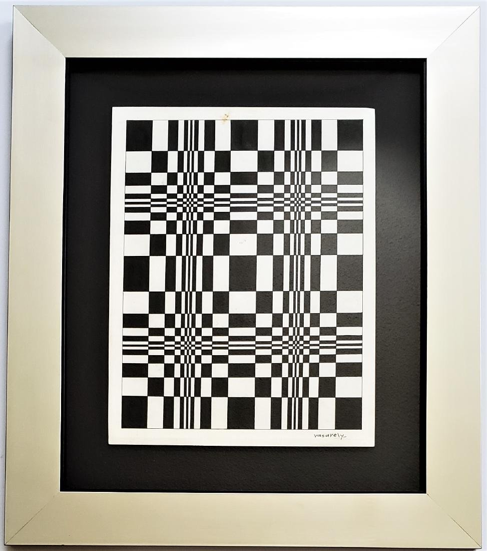 Ink on paper signed Vasarely - 3