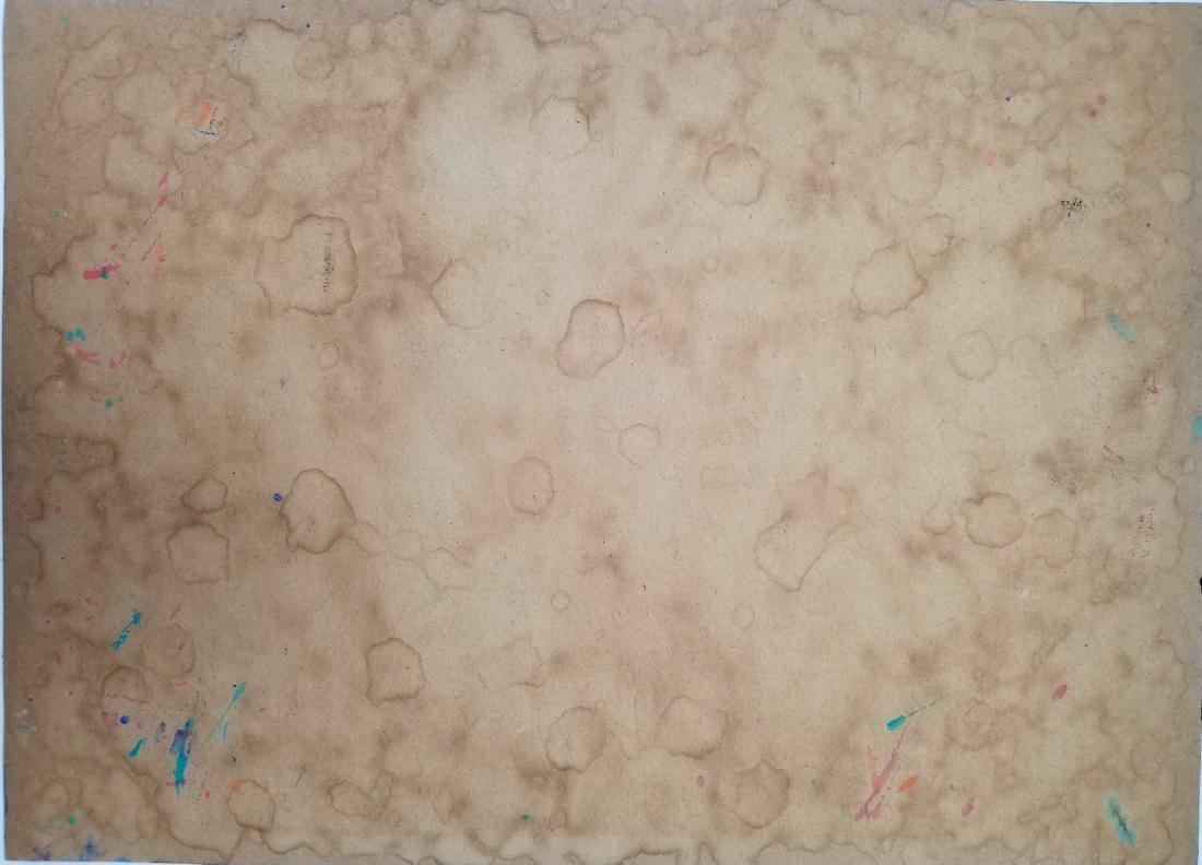 Mixed media on paper signed Jackson Pollock - 3
