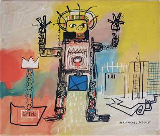 Mixed media On Paper  Basquiat