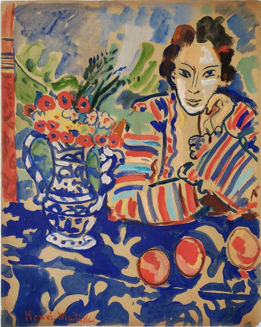 Watercolor on paper Henri Matisse.