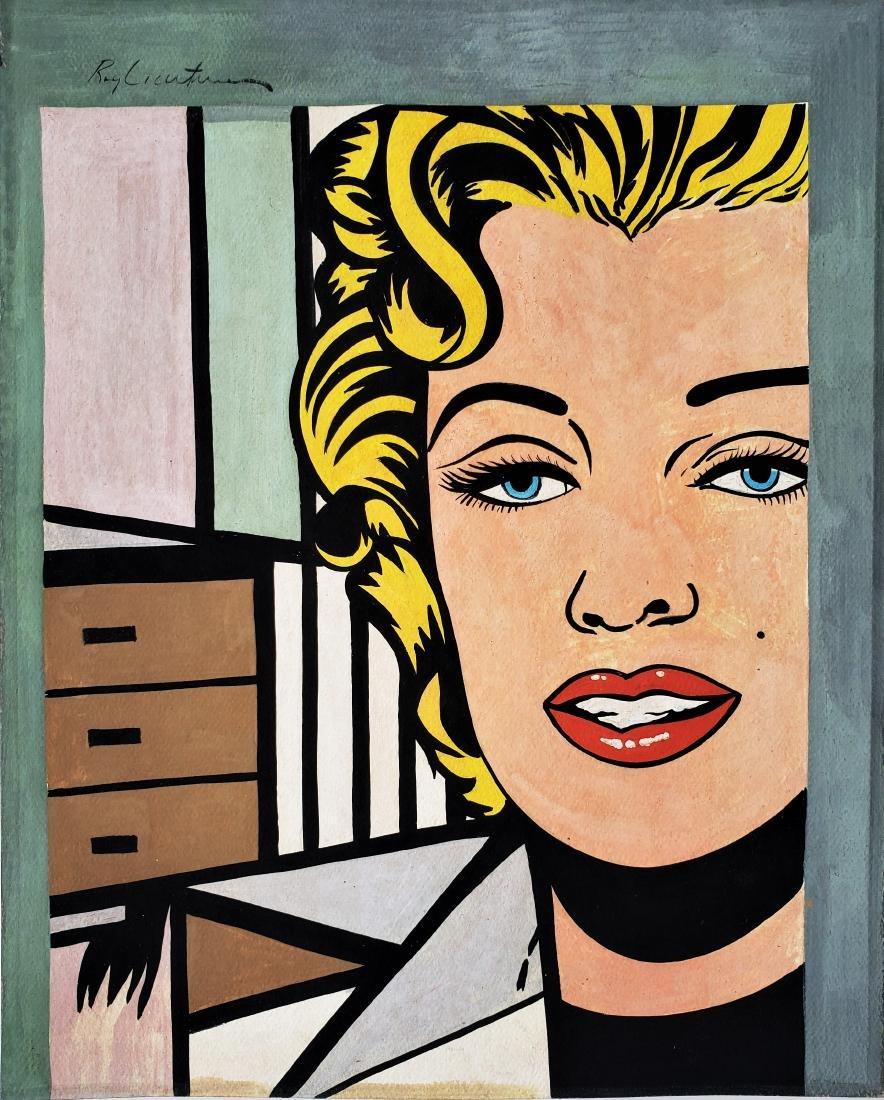 Gouache on paper  signed Roy Lichtenstein.