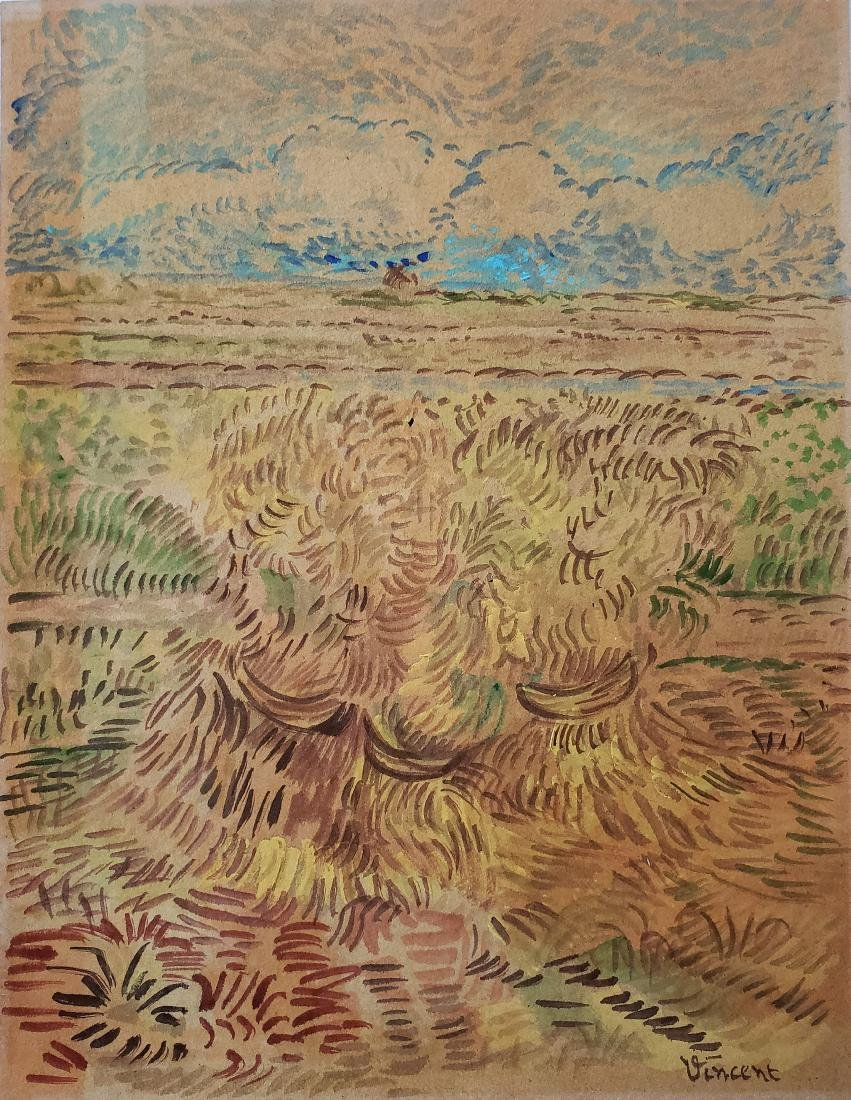 Vincent Watercolor on paper.