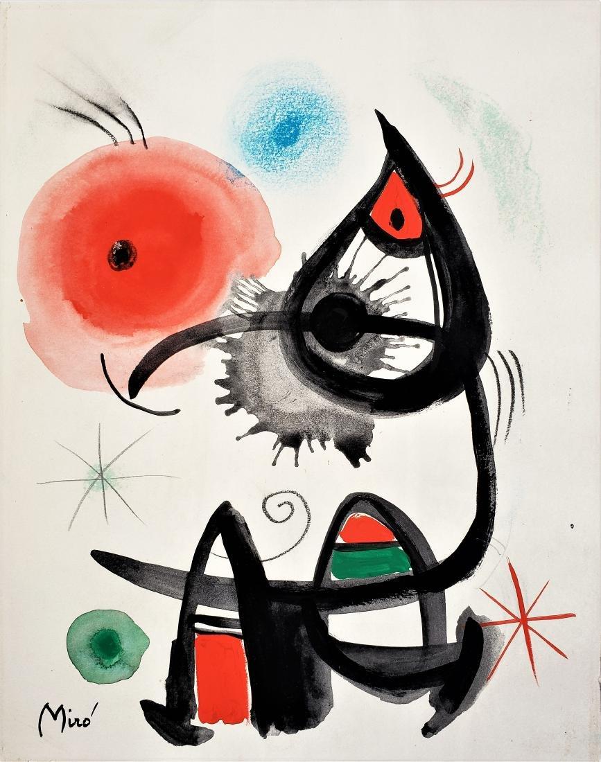 Miro Gouache on paper