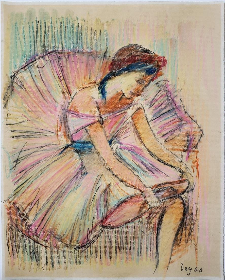 Degas Mixed media on paper