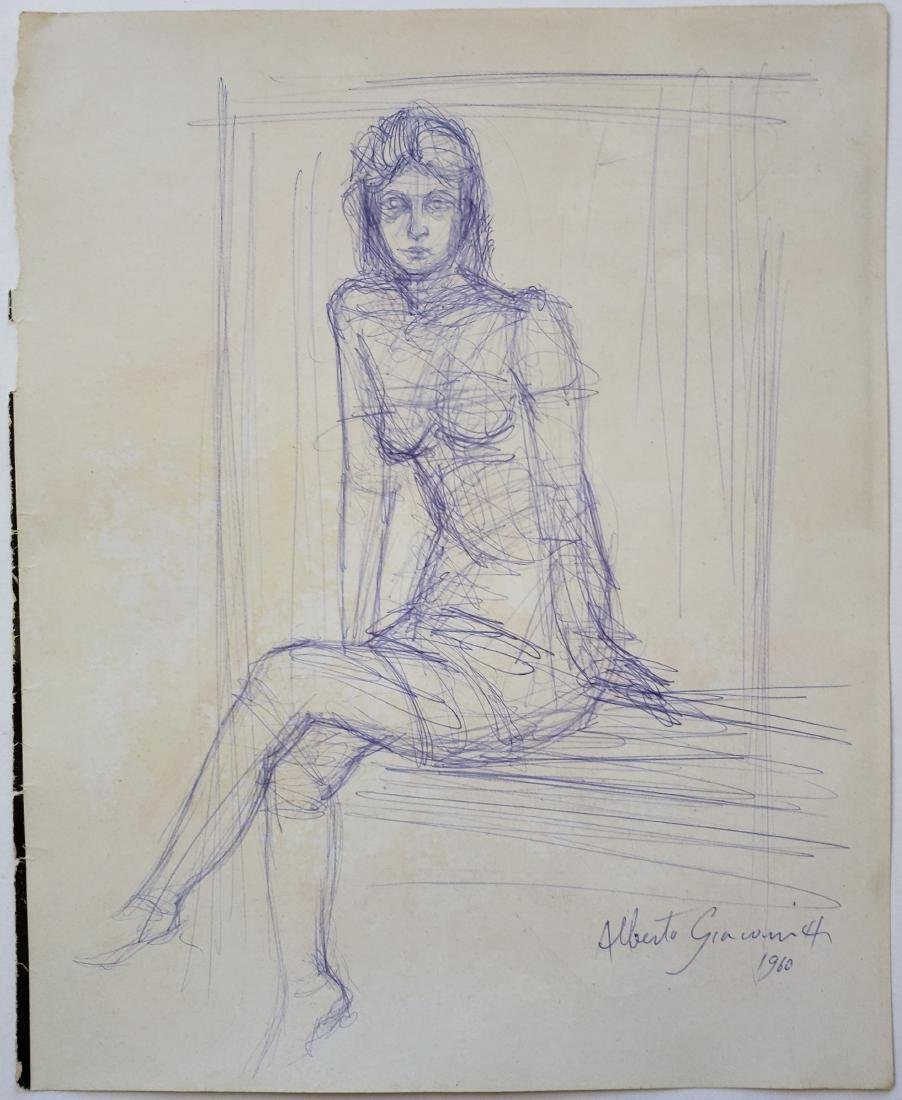 Ink on paper signed Alberto GIACOMETTI