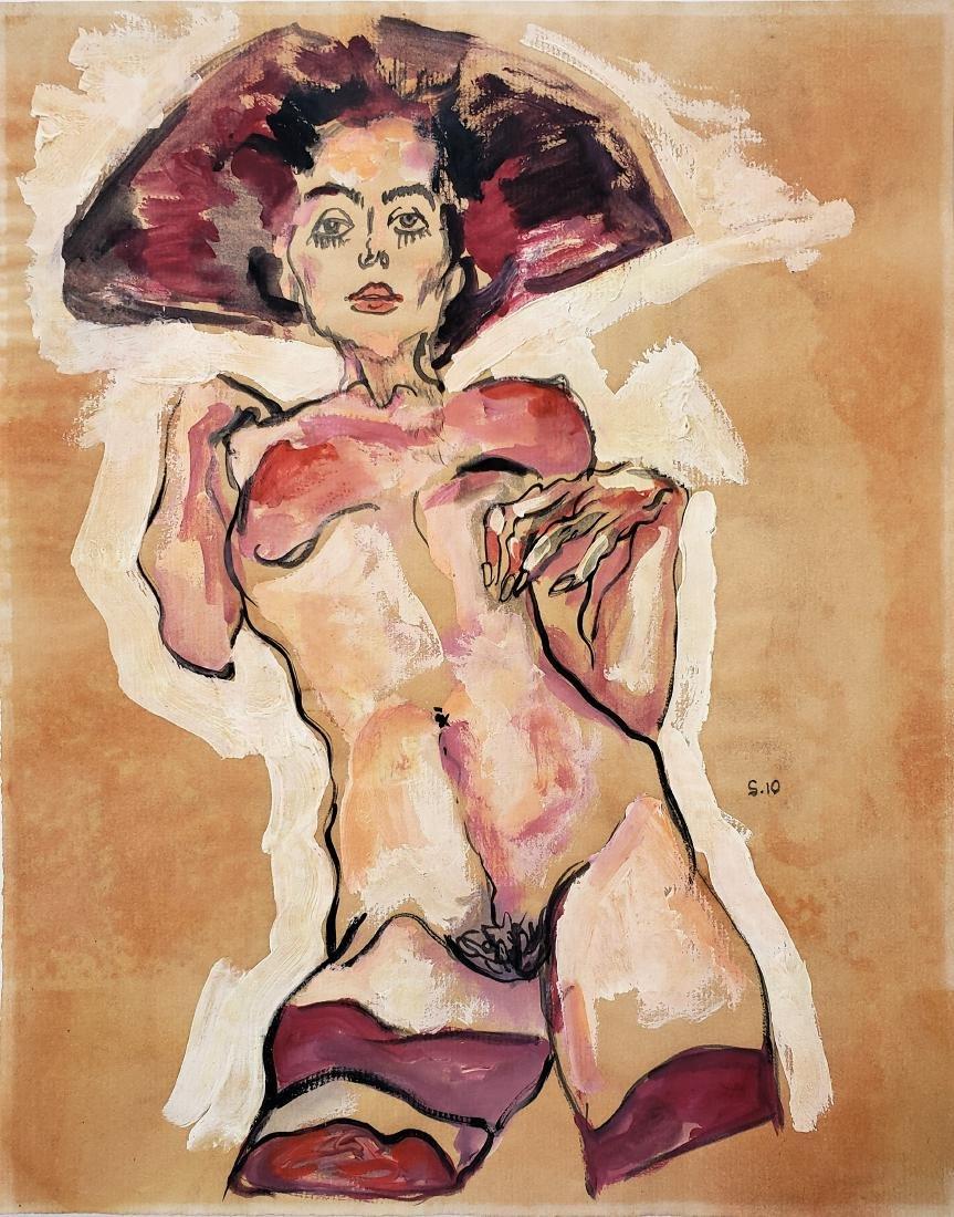 Schiele gouache on paper.