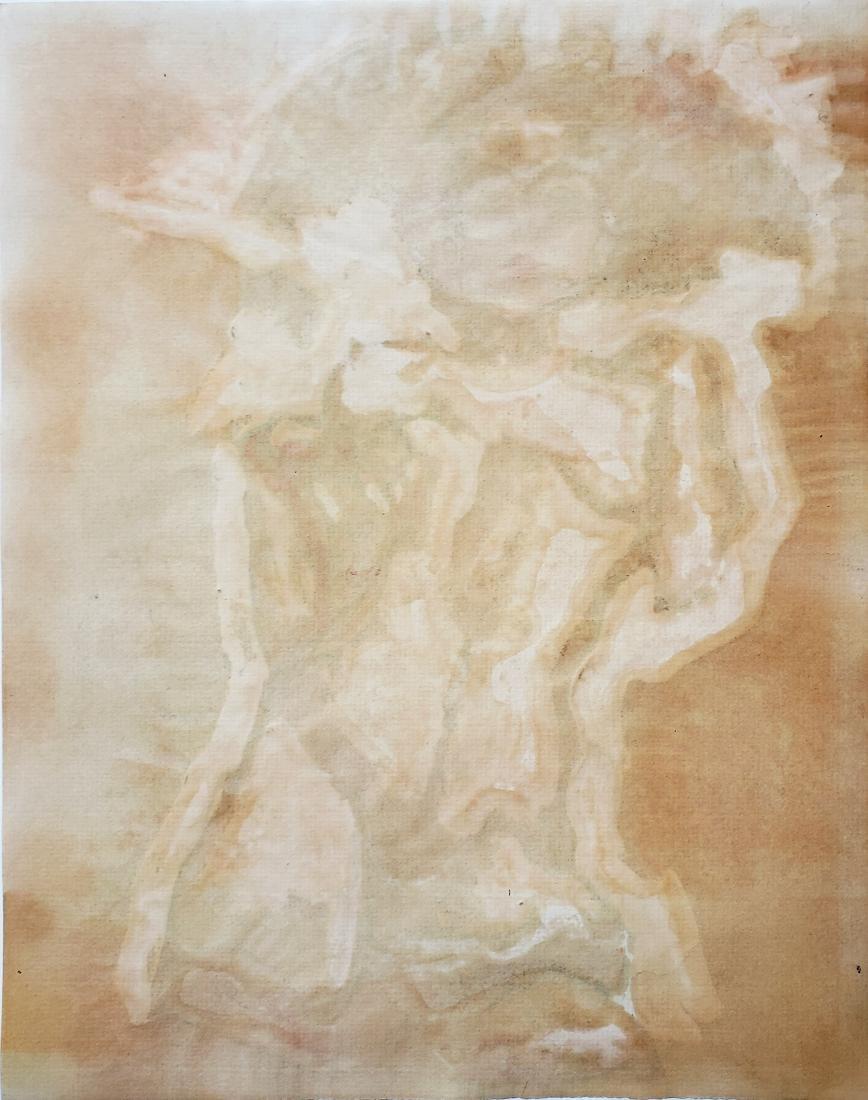 Schiele gouache on paper. - 2