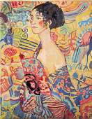 watercolor on paper  signed Gustav Klimt