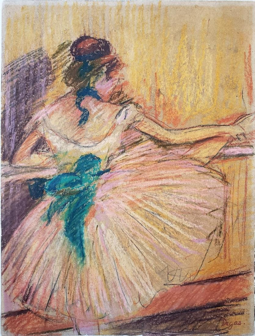 Degas pastel on paper