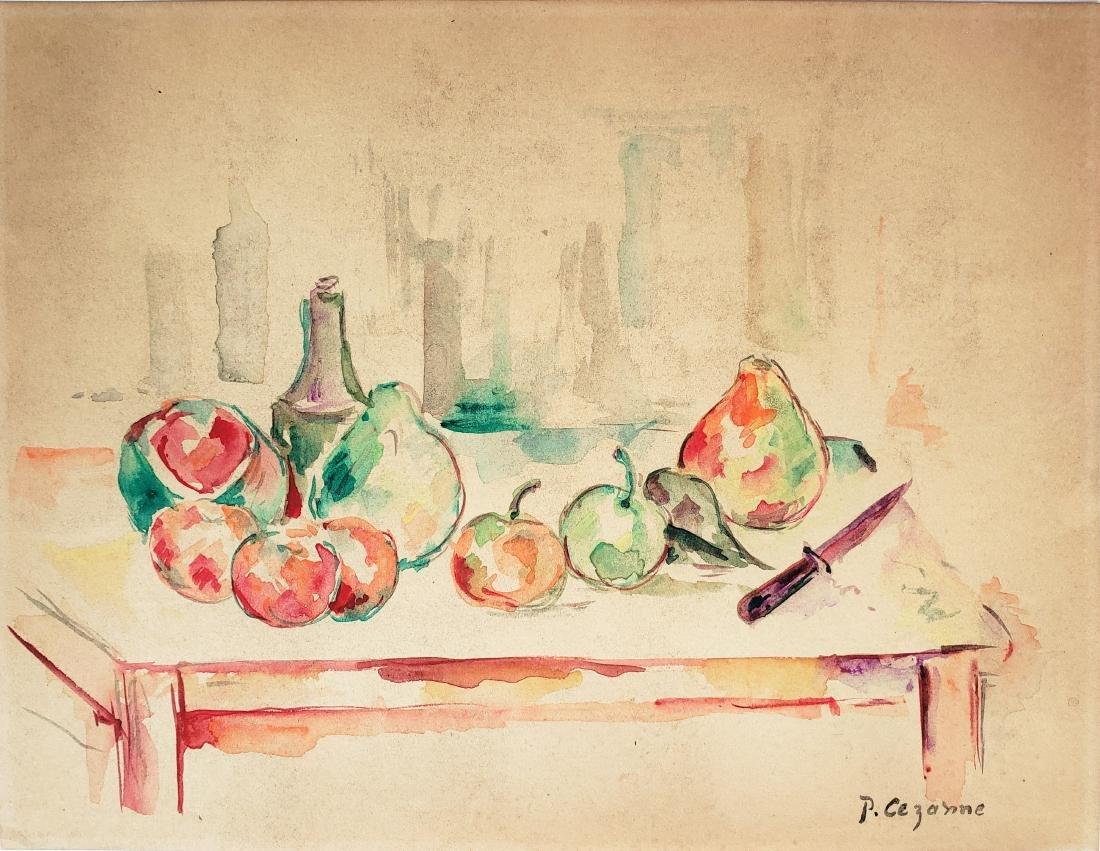 P. Cezanne watercolor on paper