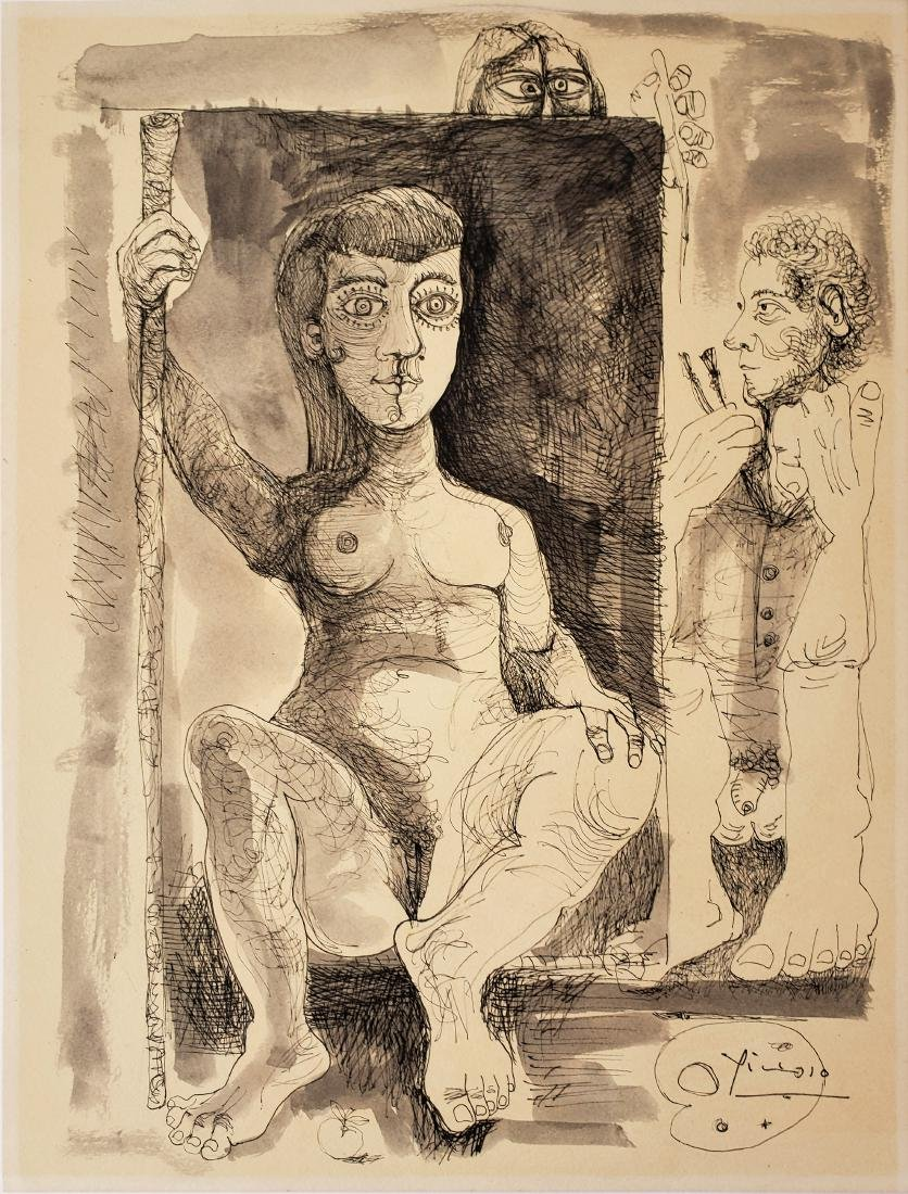 Ink on paper - Signed Picasso