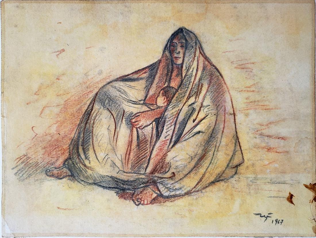 Francisco Zuniga drawing on paper