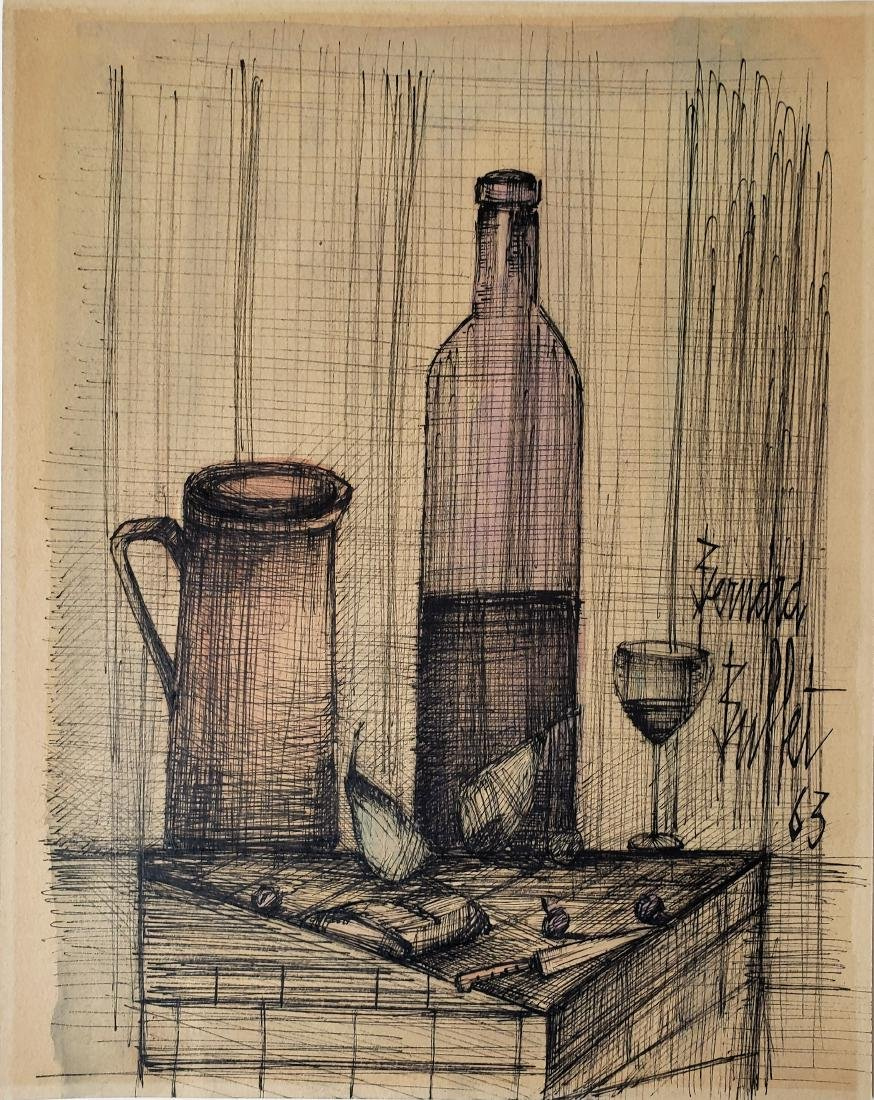 Mixed Media on paper -Bernard Buffet