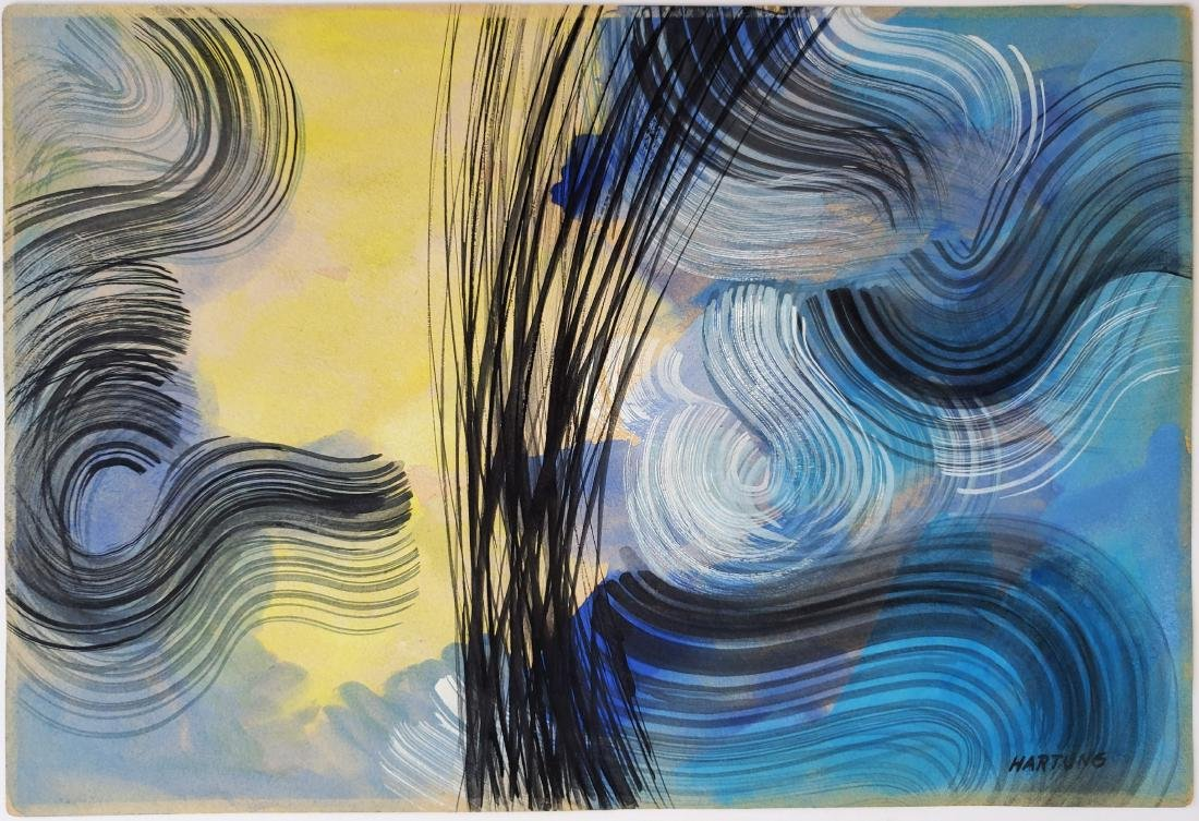 Hans HARTUNG mixed media on paper