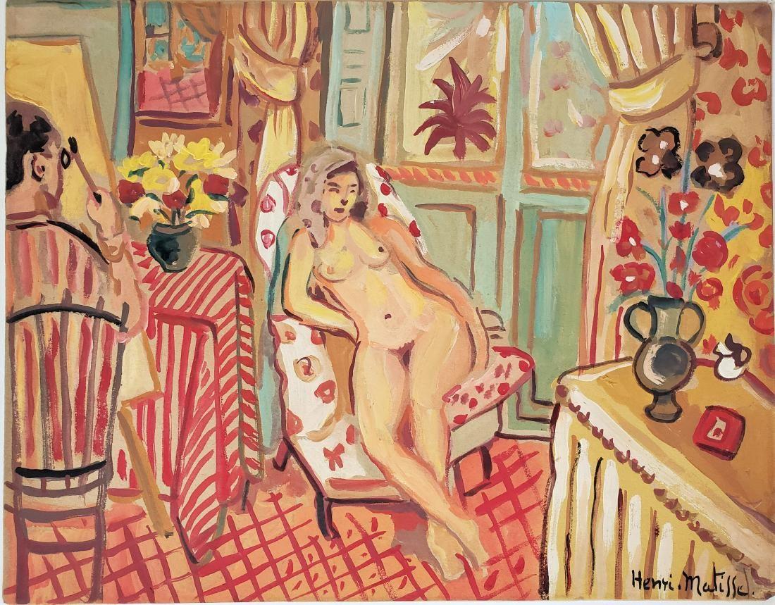 Gouache on paper Signed Henri Matisse.