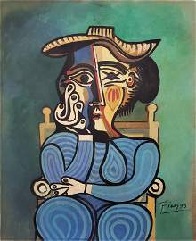 Gouache on paper signed Picasso.