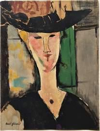 Gouachel on paper  signed Modigliani.