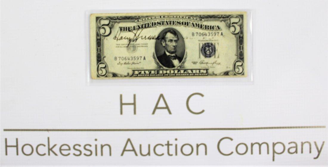 Harry S. Truman Signed Dollar Bill