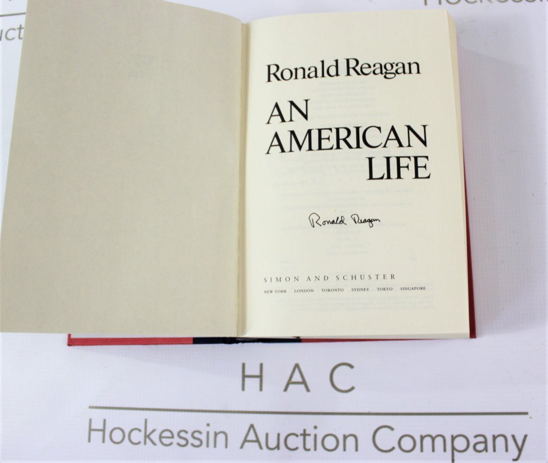 Book Signed by Ronald Reagan