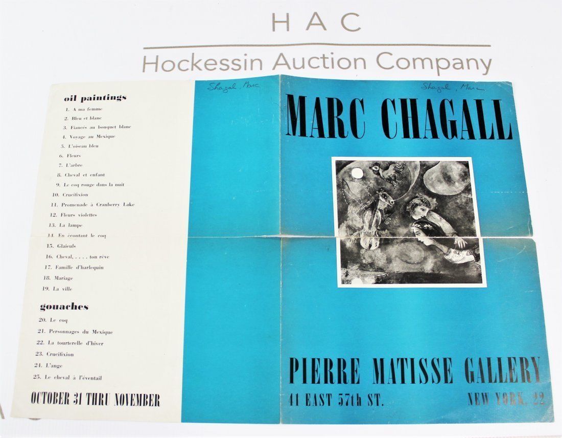 Pierre Matisse Exhibition Poster (Marc Chagall)