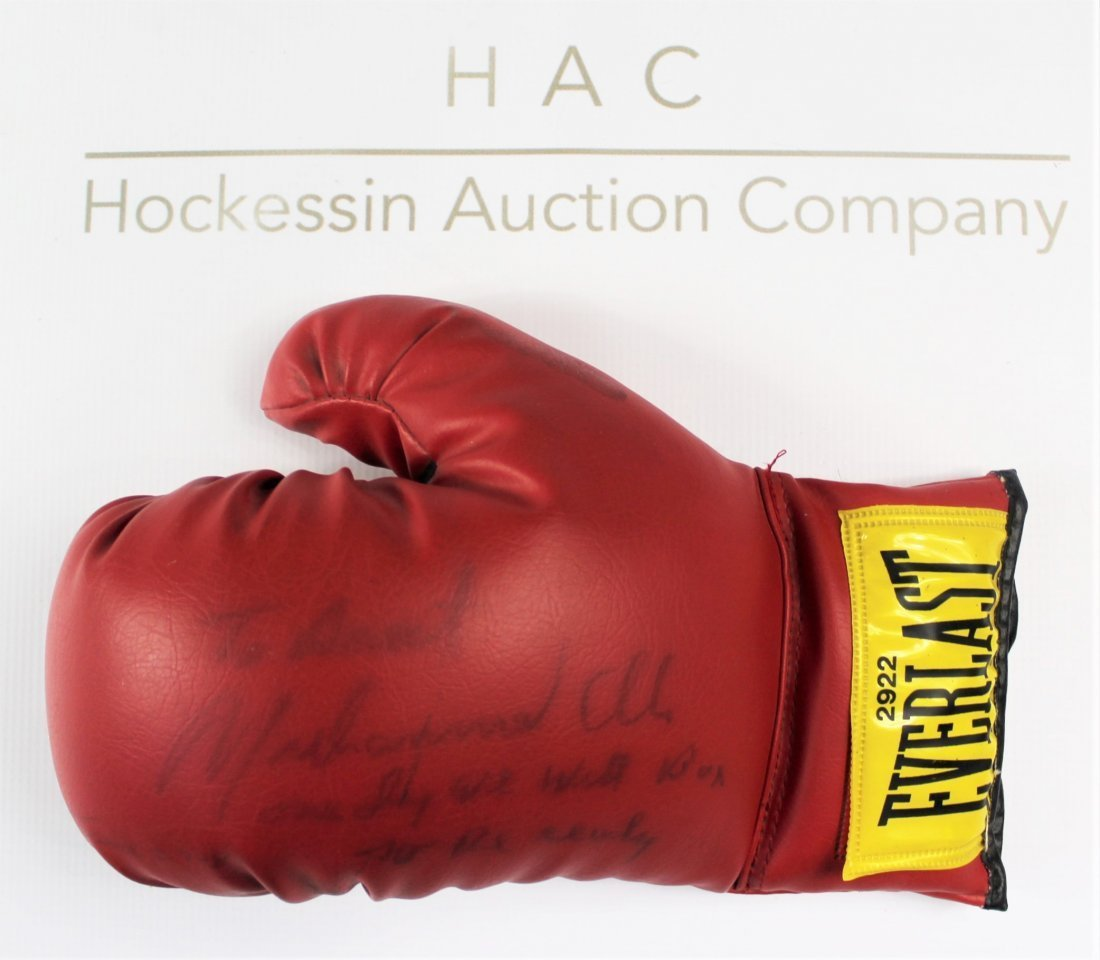 Boxing Glove Signed by Muhammad Ali