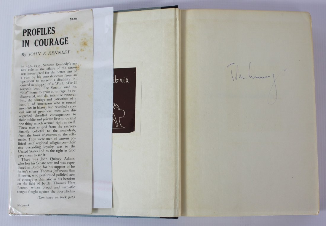 Book Signed by John F. Kennedy, Profiles in Courage
