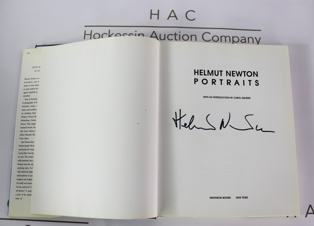 Book Signed by Helmut Newton