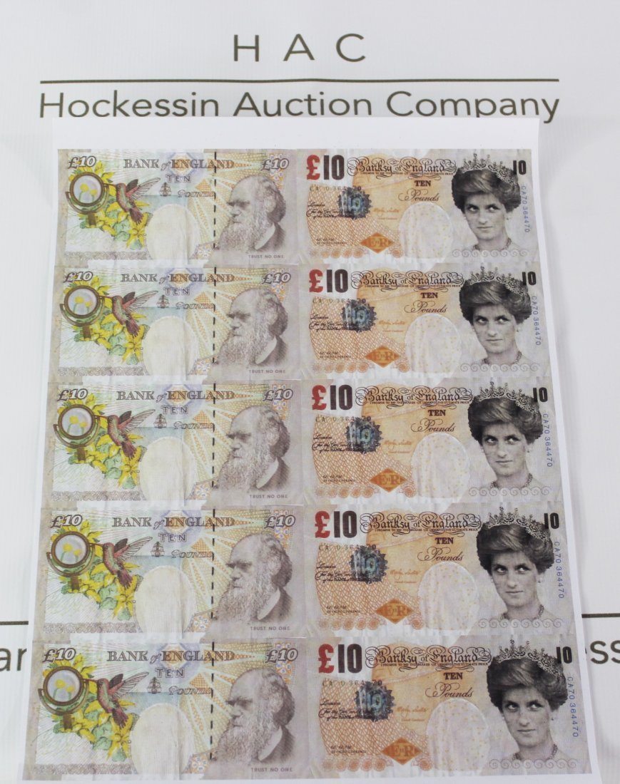 Banksy Tenner Sheet