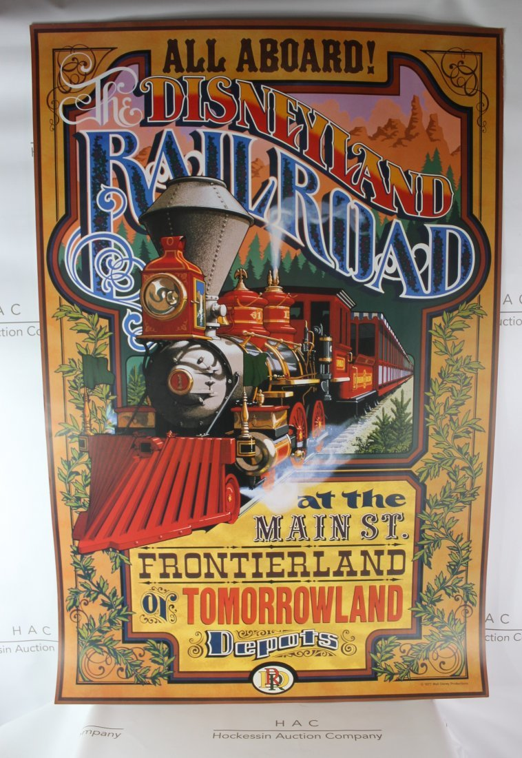 Disneyland Attraction Poster