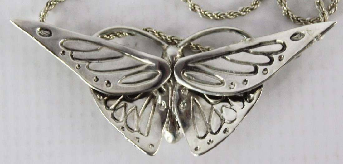 Cartier Sterling Silver Butterfly Necklace - 3