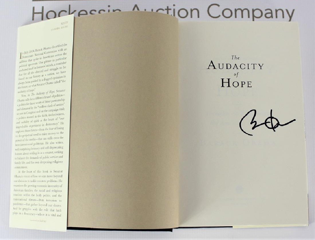Book Signed by President Barack Obama, The Audacity of