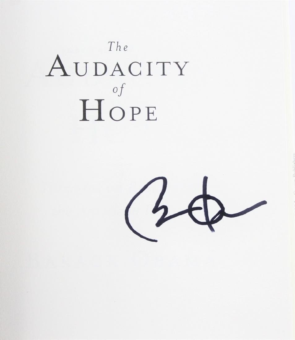 Book Signed by President Barack Obama, The Audacity of - 2