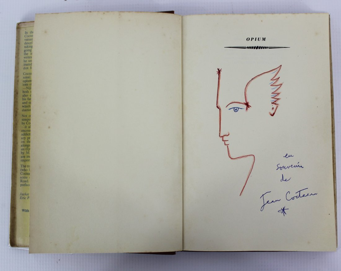 Book Signed by Jean Cocteau, Opium, The Diary of a Cure