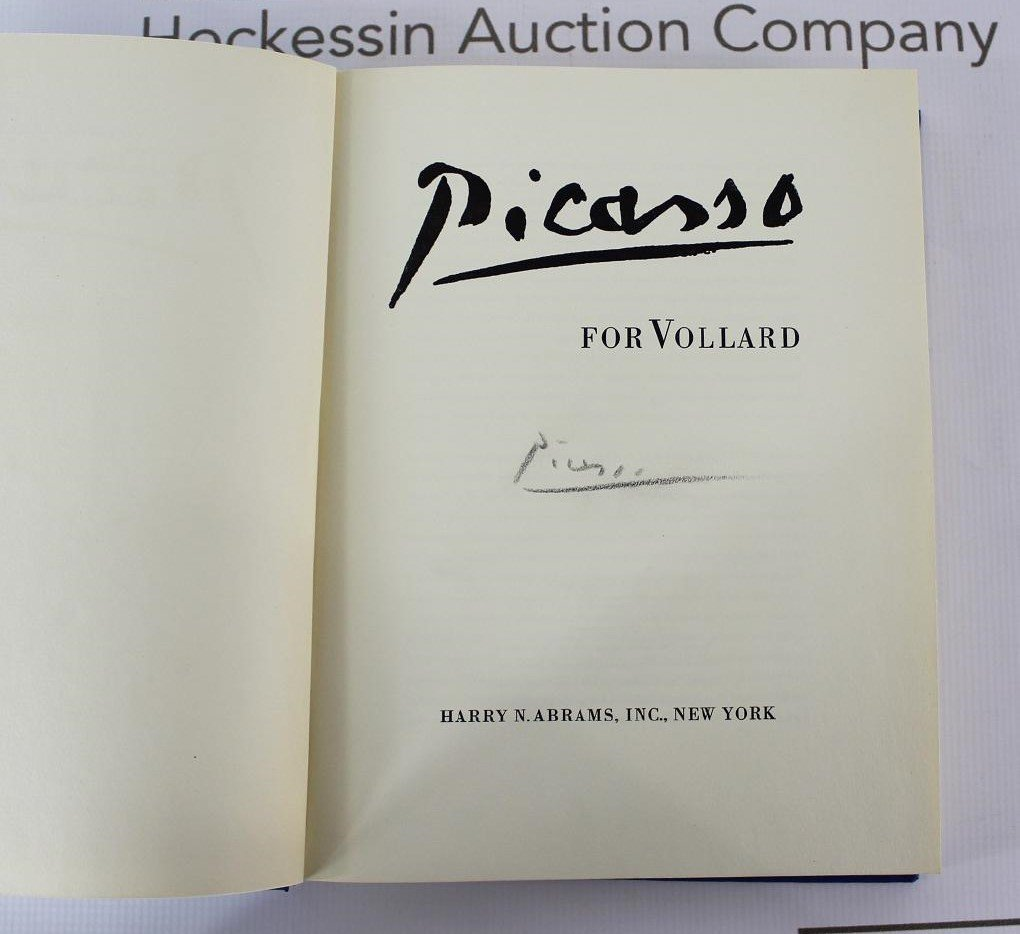 Book Signed by Pablo Picasso, PICASSO for VOLLARD