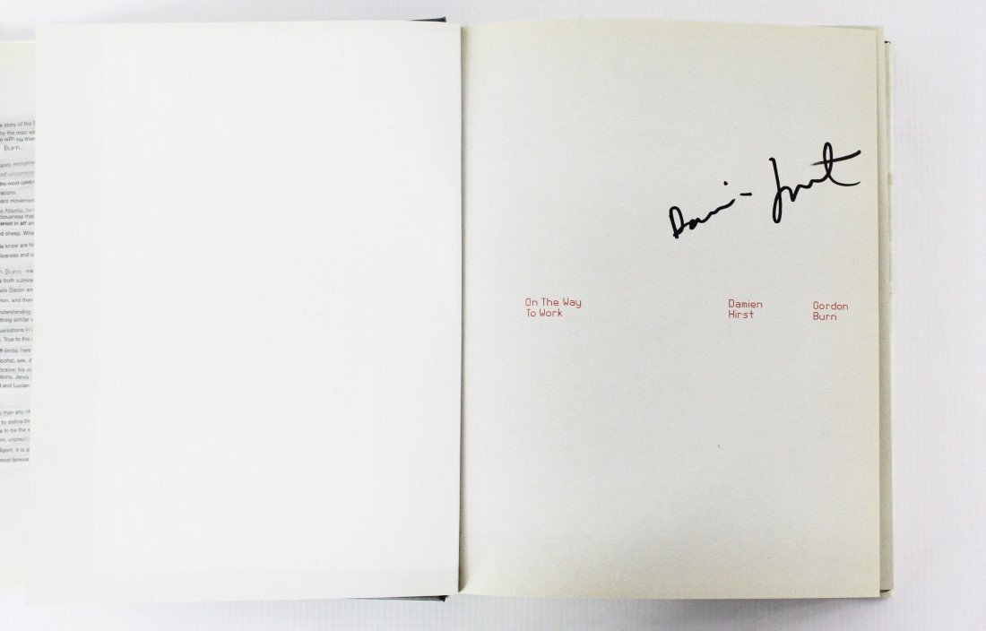Book Signed by Damien Hirst, On The Way To Work