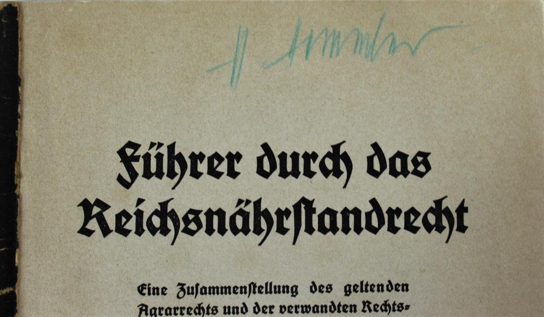 Book Signed by Heinrich Himmler - 2