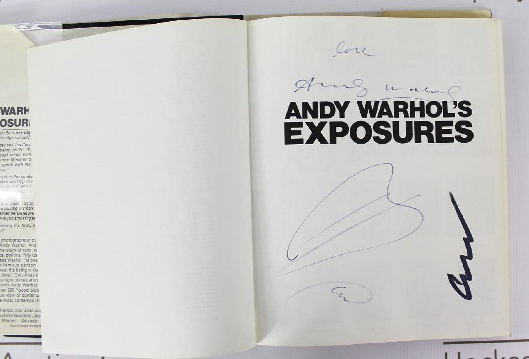 Book Signed by Andy Warhol, ANDY WARHOL'S EXPOSURES