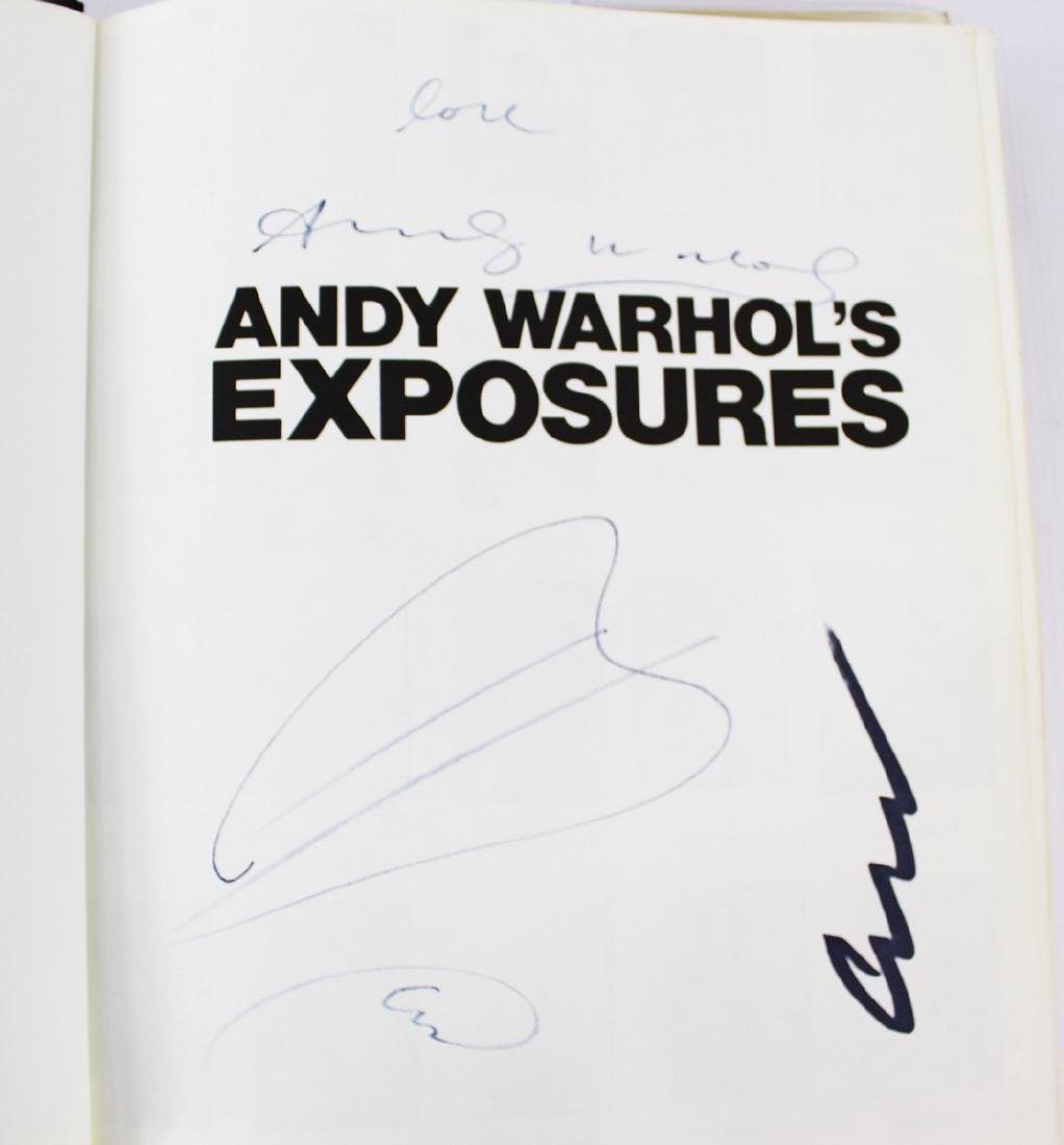 Book Signed by Andy Warhol, ANDY WARHOL'S EXPOSURES - 2