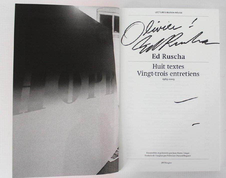 Book Signed by Edward Ruscha, Huit Textes Vingt-Trois