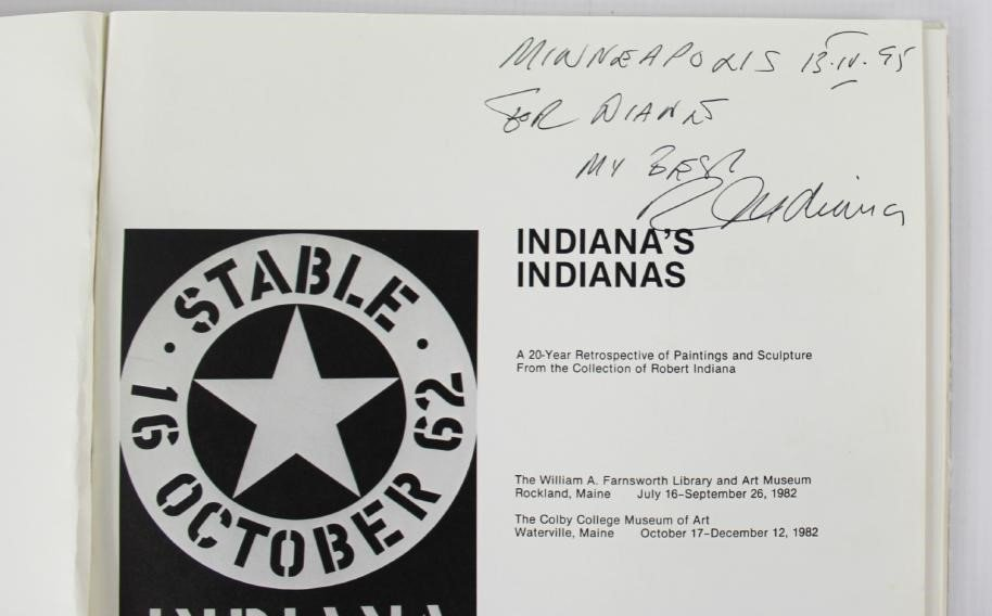Book Signed by Robert Indiana, Indiana's Indianas